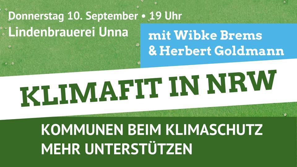Klimafit in NRW mit Wibke Brems MdL und Herbert Goldmann